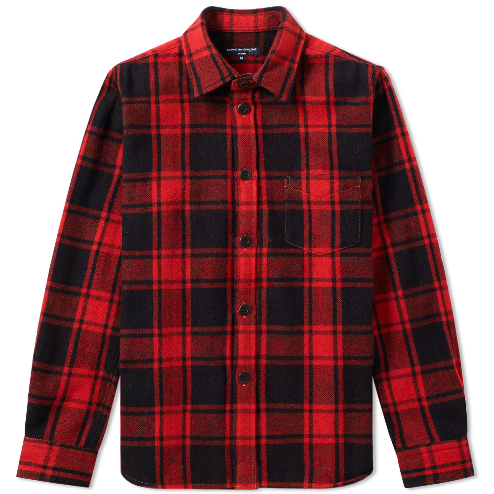 Photo: Comme des Garcons Homme Wool Check Overshirt
