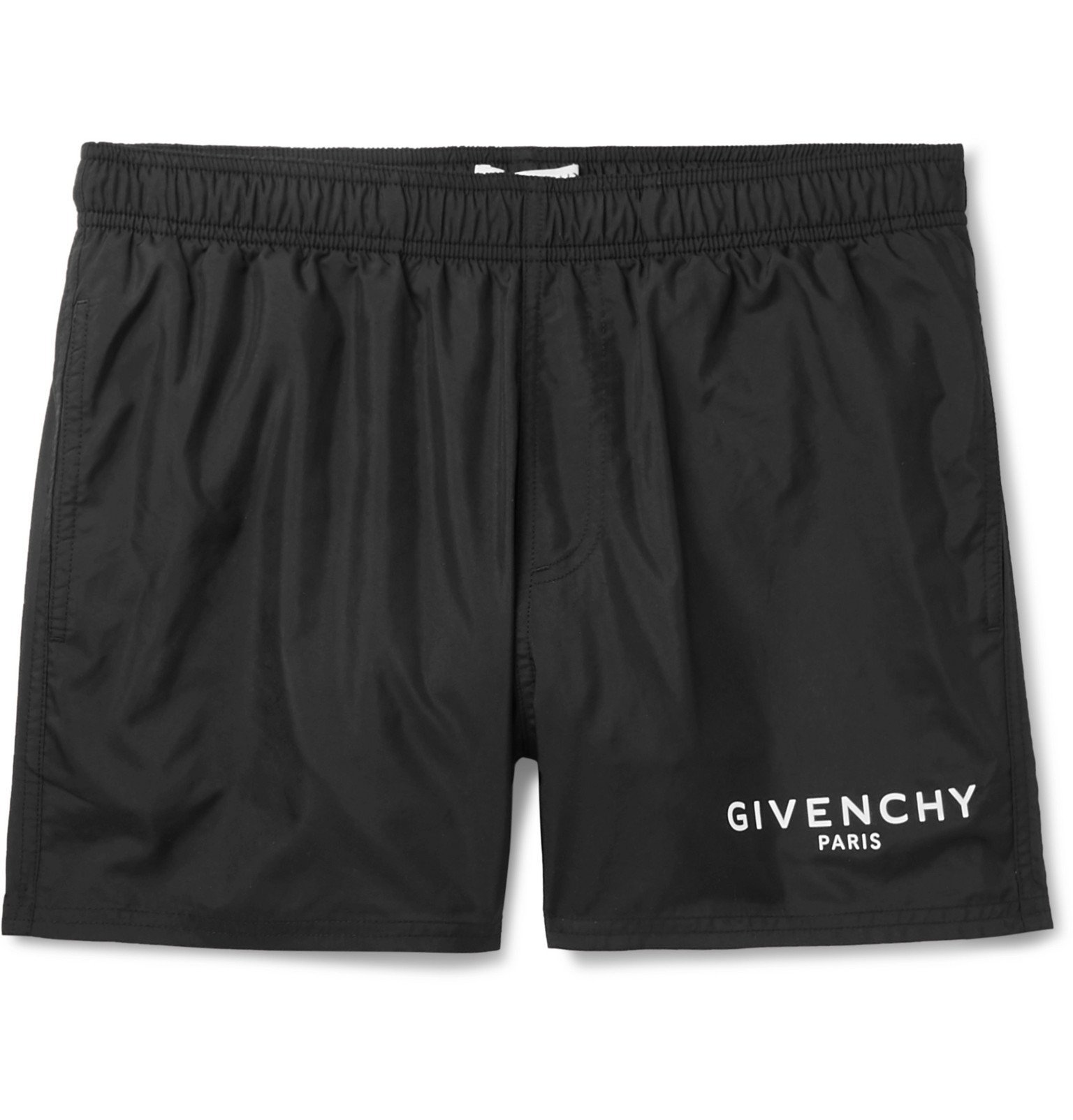 Photo: Givenchy - Short-Length Logo-Print Swim Shorts - Black
