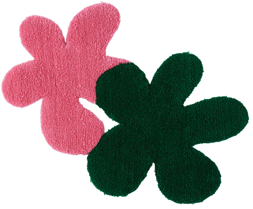 Photo: Rashelle Campbell SSENSE Exclusive Green & Pink 2 Flubs Rug