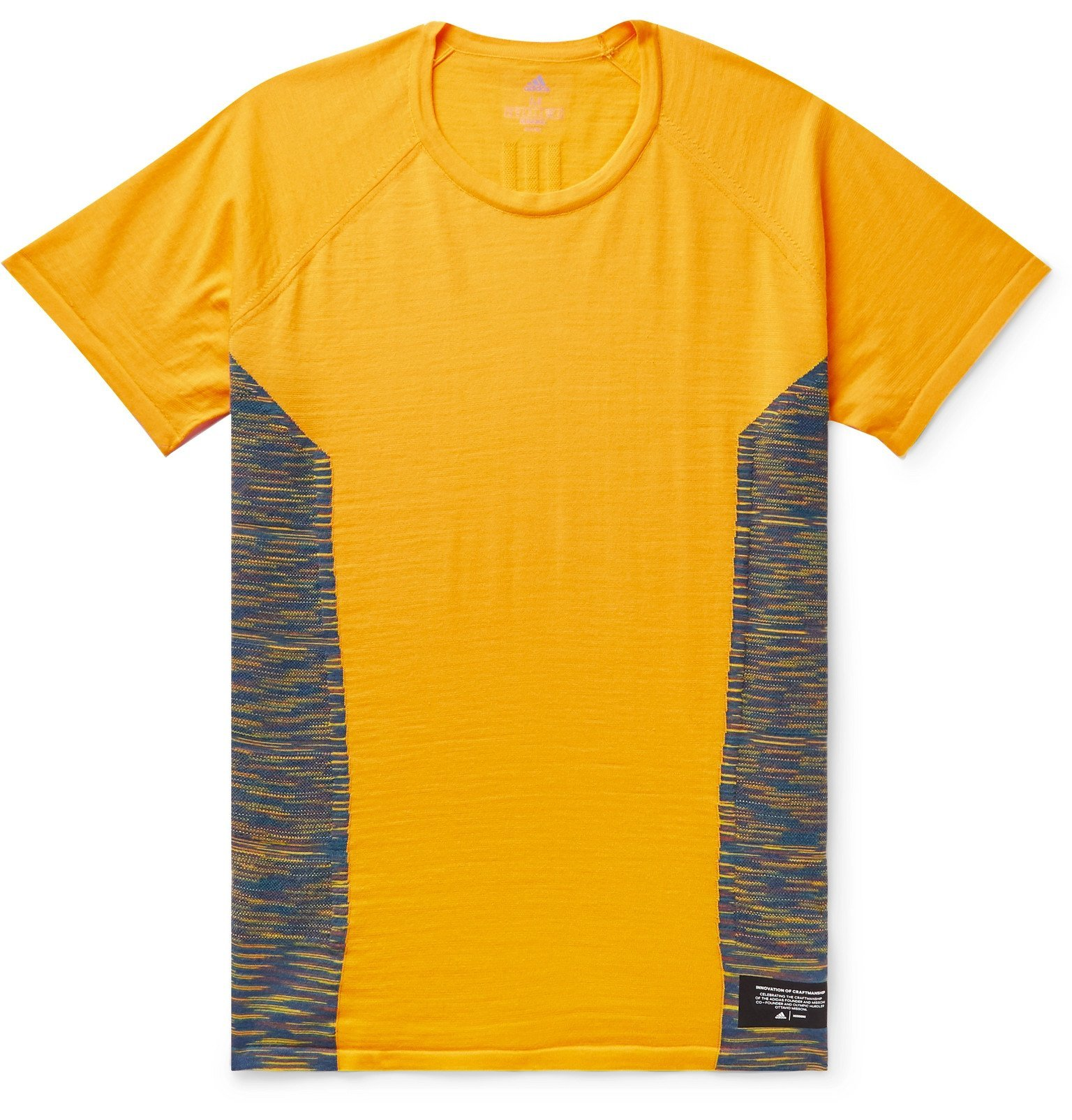 Photo: adidas Consortium - Missoni Space-Dyed Stretch-Knit T-Shirt - Yellow