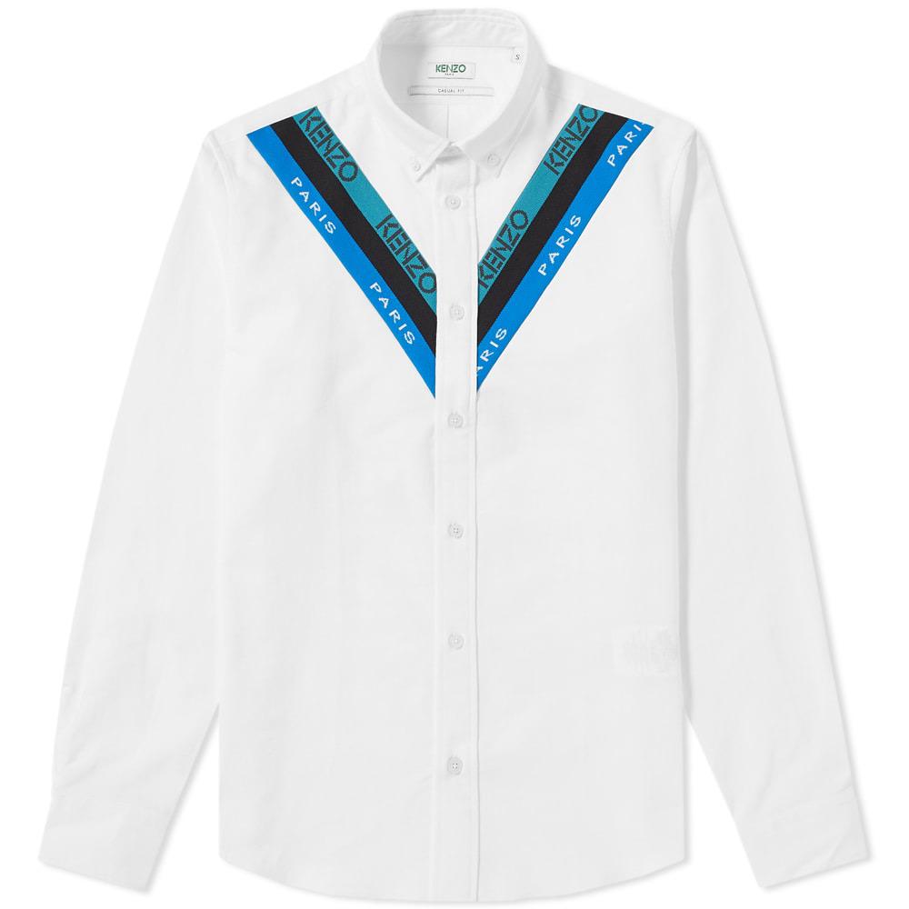 Photo: Kenzo Knitted Insert Oxford Shirt White