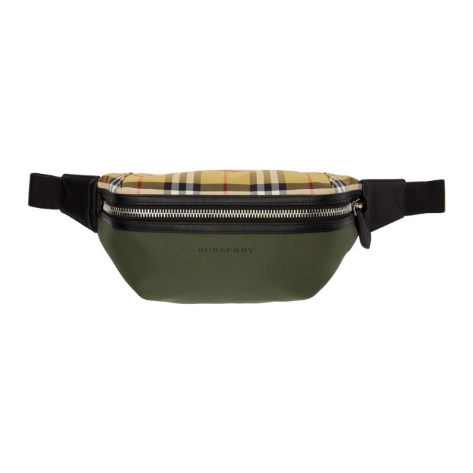 Photo: Burberry Green Medium Vintage Check Sonny Bum Bag