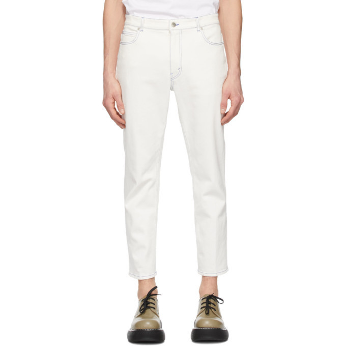 Photo: Stella McCartney White Shared OBS 23 Contrast Stitch Jeans
