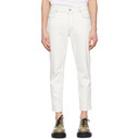 Stella McCartney White Shared OBS 23 Contrast Stitch Jeans