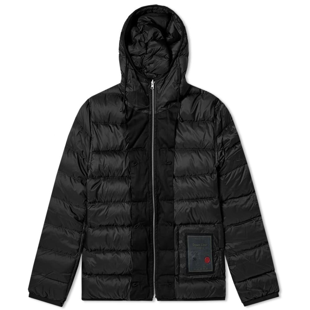 Photo: Ten C Fur Hooded Down Liner Black