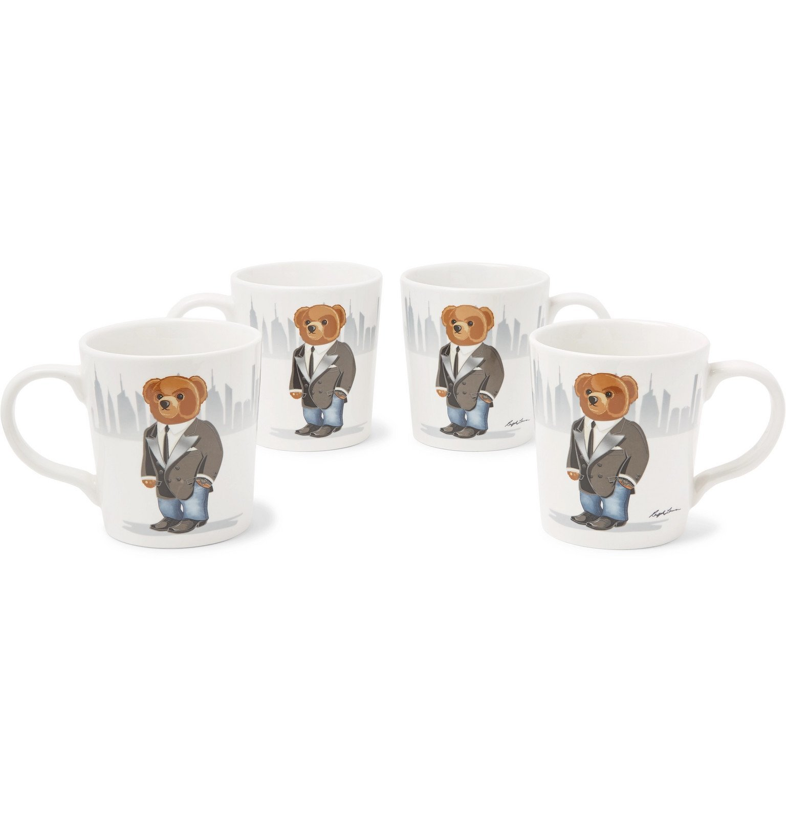 Photo: Ralph Lauren Home - Haven Set of Four Printed Stoneware Mugs - White