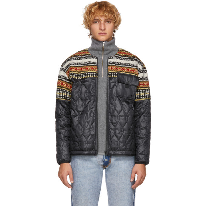 Photo: Comme des Garcons Homme Black Wool and Quilted Jacket
