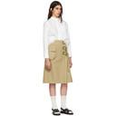 Sacai White Lace Bottom Shirt