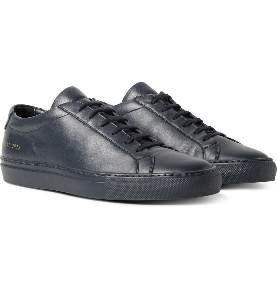 Common Projects - Original Achilles Leather Sneakers - Men - Navy