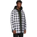 Acne Studios Black and White Plaid Quilted Overshirt