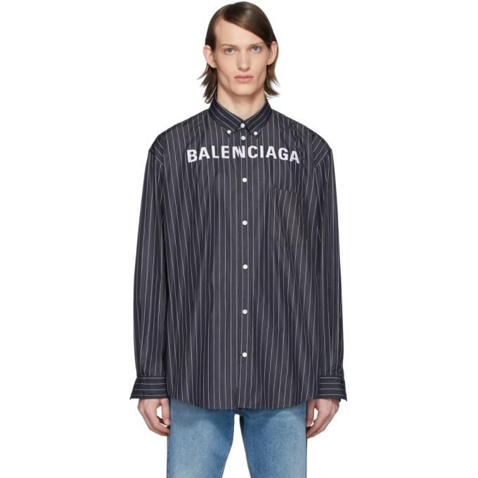 Photo: Balenciaga Black Chest Logo Shirt