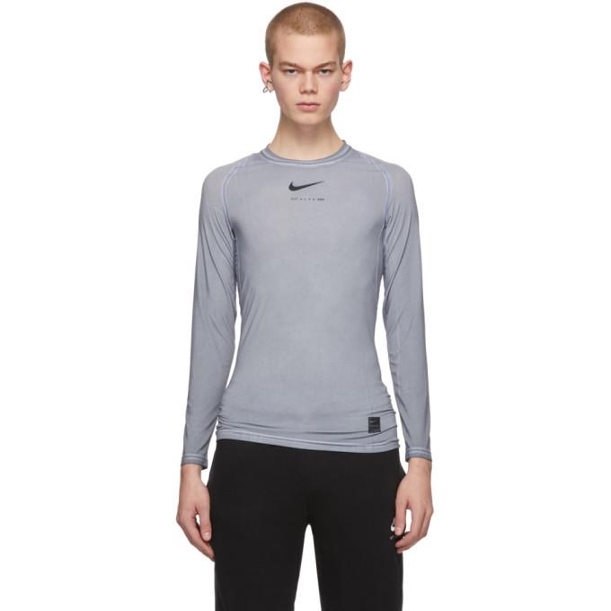 Photo: 1017 ALYX 9SM Grey Nike Edition Dye Long Sleeve T-Shirt