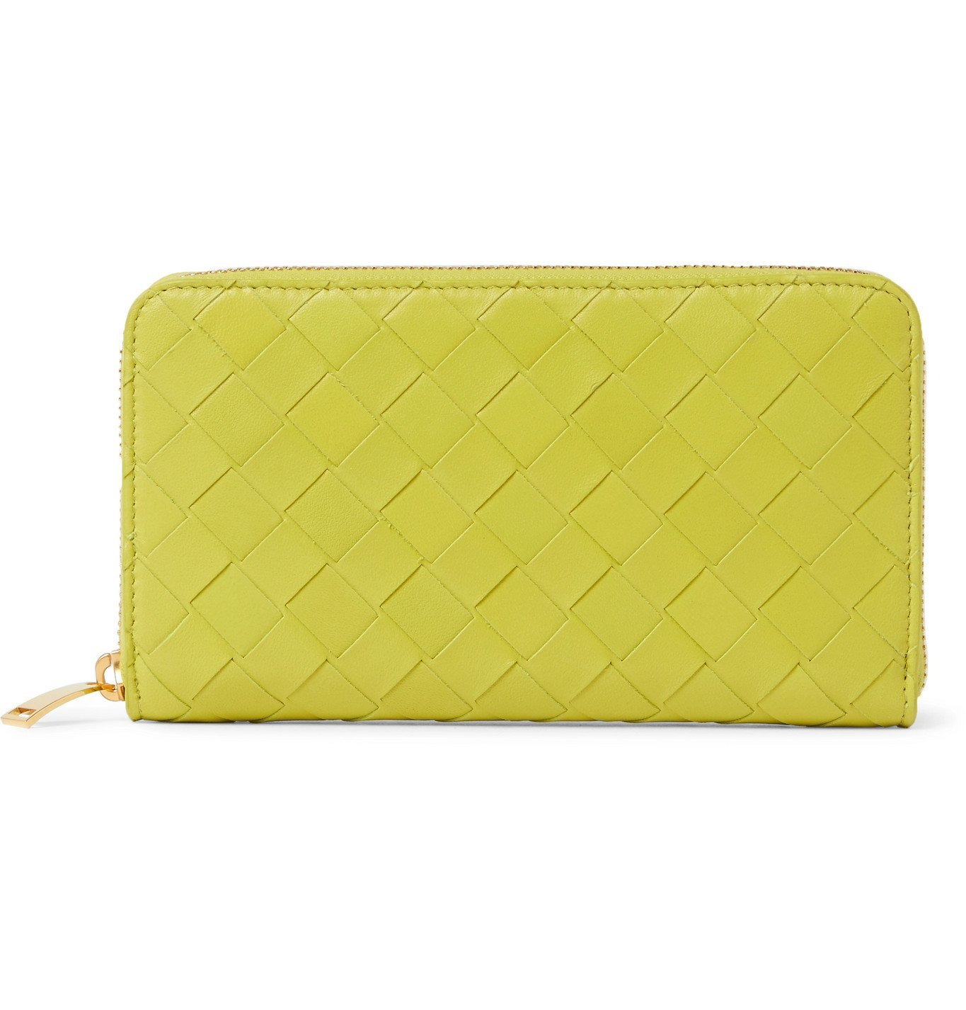 Photo: Bottega Veneta - Intrecciato Leather Zip-Around Wallet - Green