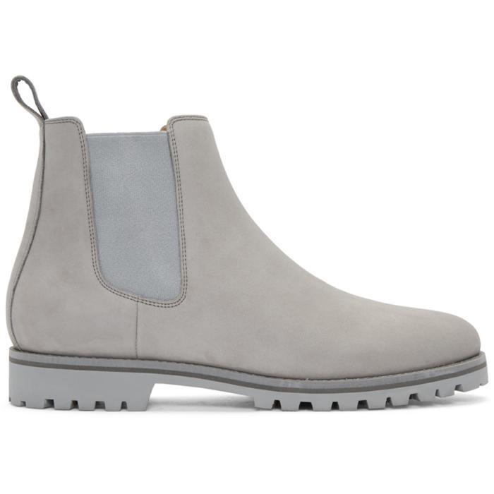Photo: ETQ Amsterdam Grey Chelsea Boots