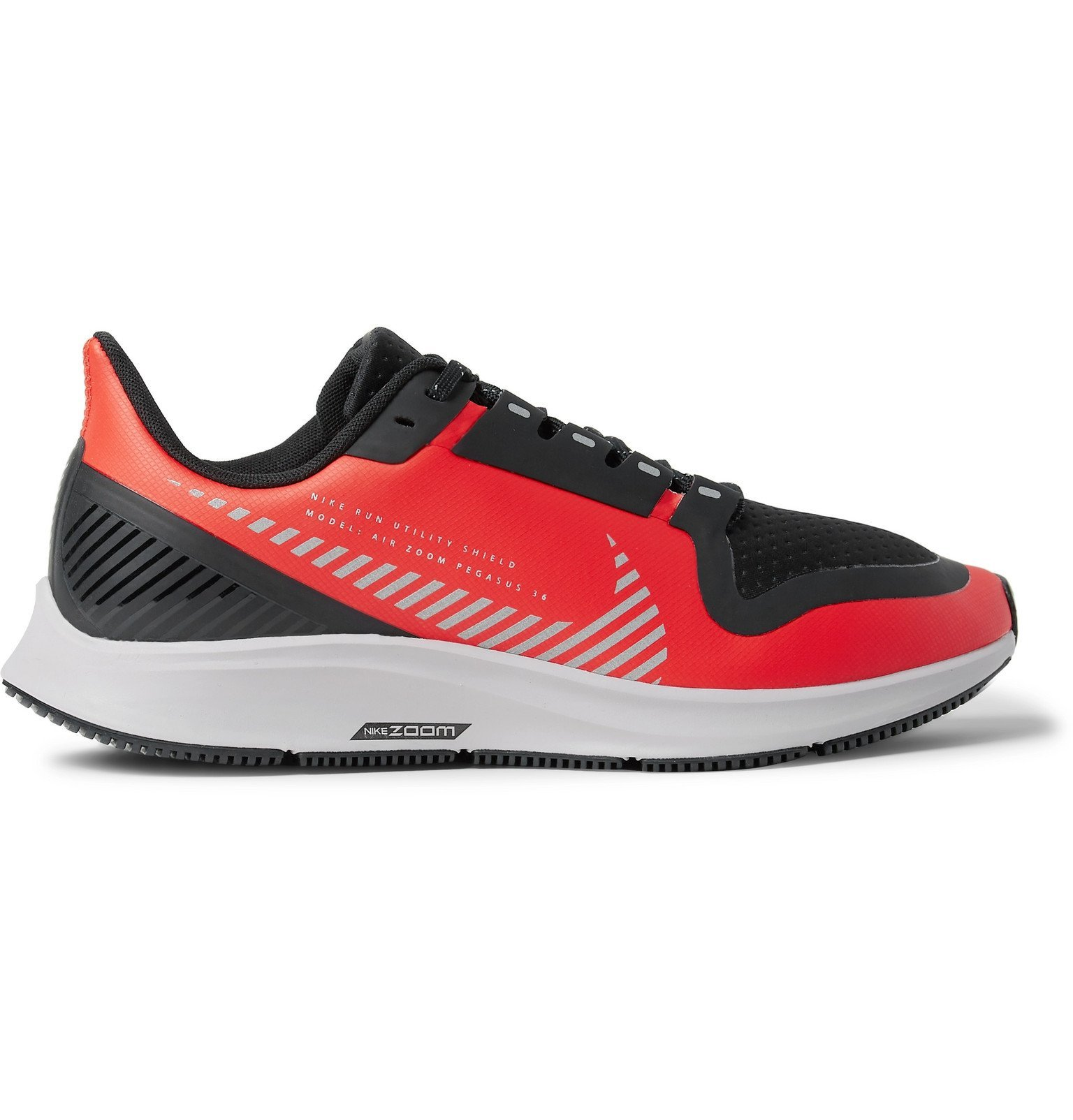 Nike Running - Air Zoom Pegasus 36 Shield Rubber and Mesh Running Sneakers - Red