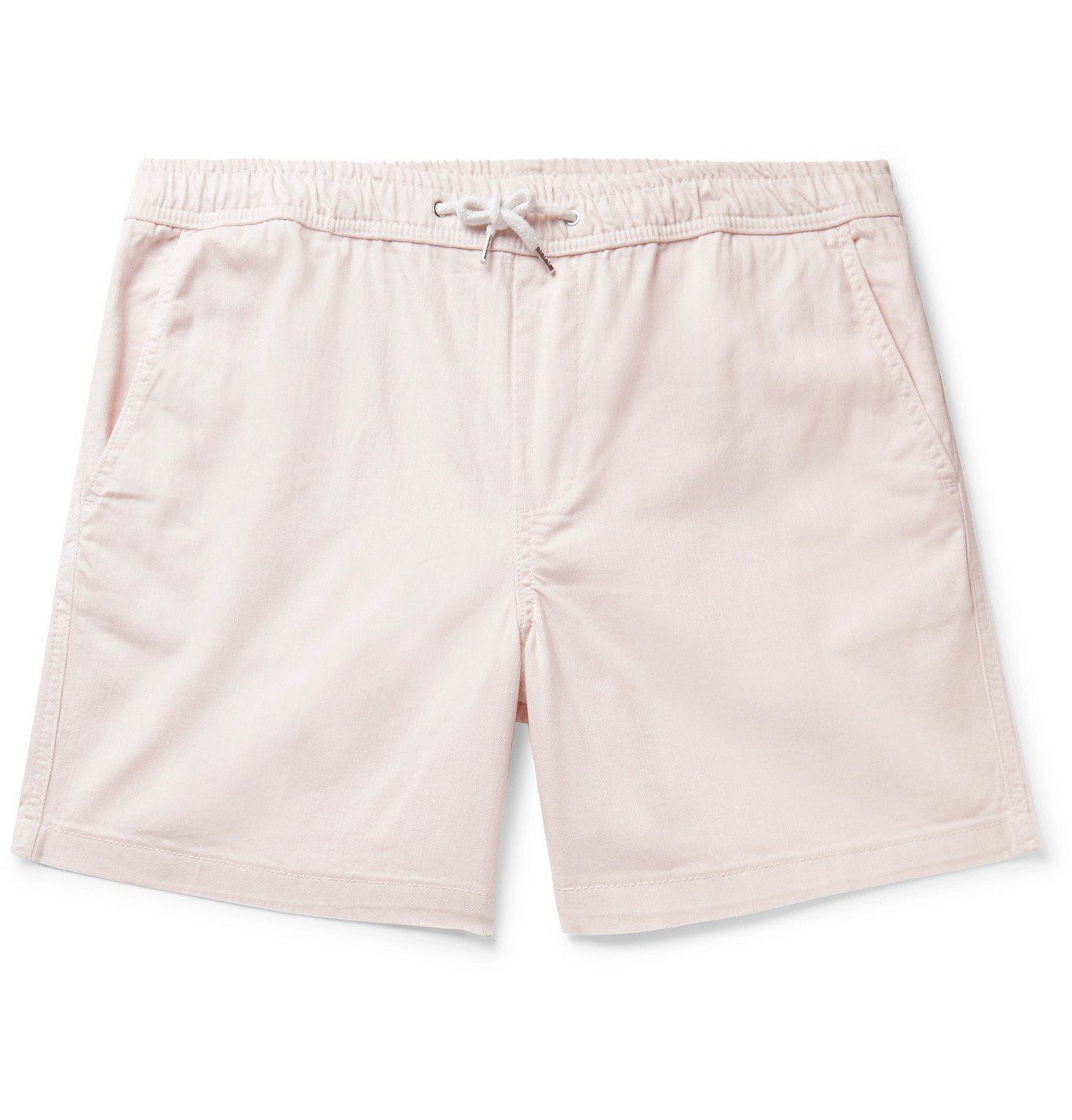 Photo: NN07 - Gregor Stretch-Cotton Twill Drawstring Shorts - Pink