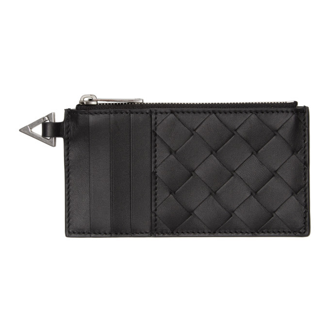 Photo: Bottega Veneta Black Intrecciato Coin Purse