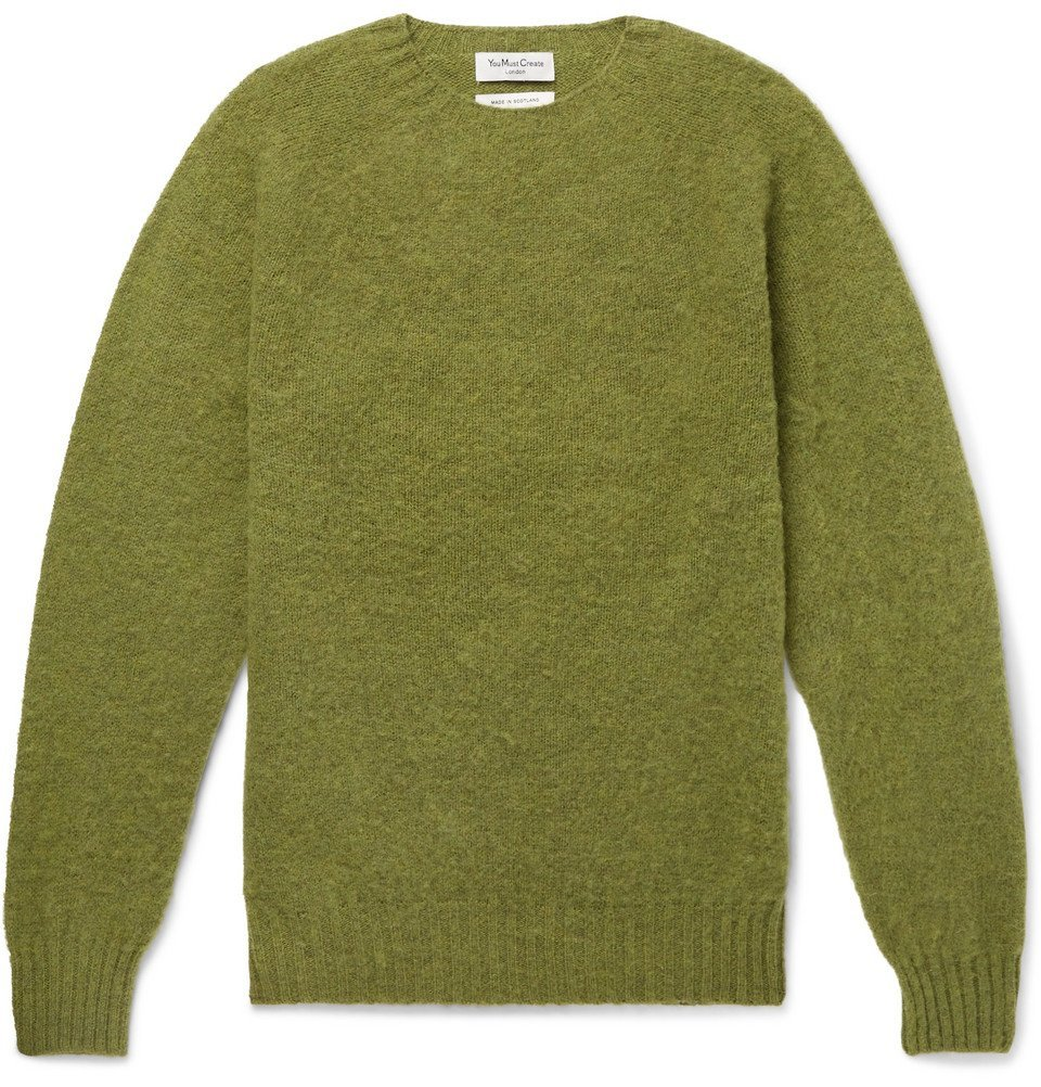 Photo: YMC - Brushed-Wool Sweater - Men - Green