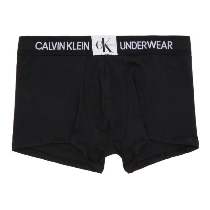 Photo: Calvin Klein Underwear Black Monogram Boxer Briefs