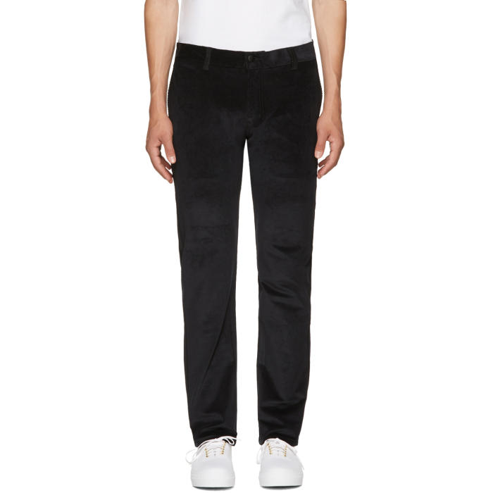 Photo: Naked and Famous Denim Black Corduroy Slim Chinos