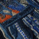 KAPITAL - Boro Cotton-Blend Jacquard Cardigan - Blue