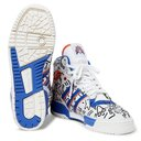 adidas Originals - Keith Haring Rivalry Embroidered Leather High-Top Sneakers - White