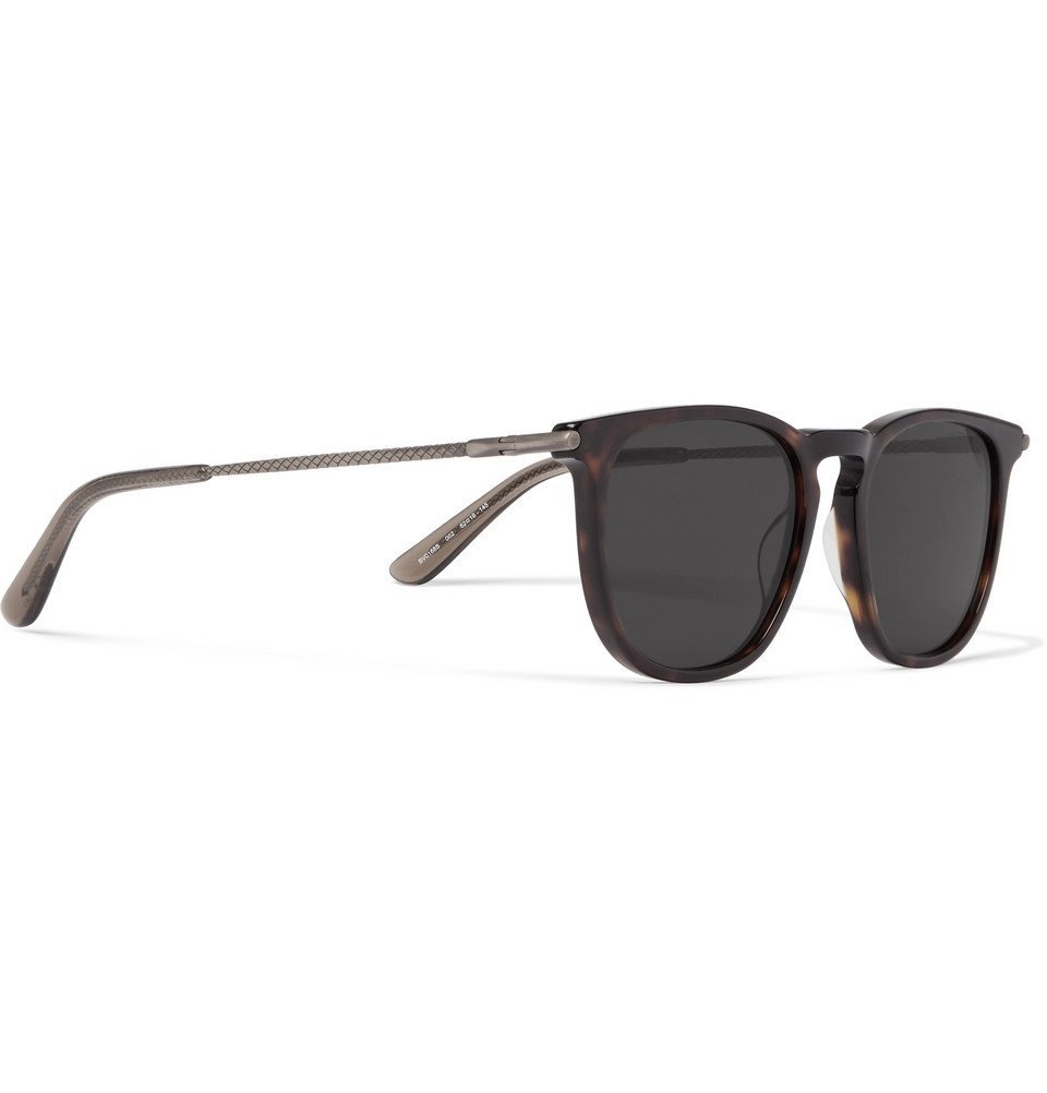 Bottega Veneta - Square-Frame Tortoiseshell Acetate and Gunmetal-Tone Sunglasses - Men - Tortoiseshell