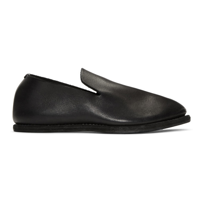 Photo: Guidi Black Leather Slip-On Loafers