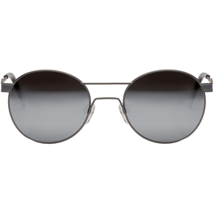 Photo: Han Kjobenhavn Silver Green Steel Mirror Lenses Sunglasses