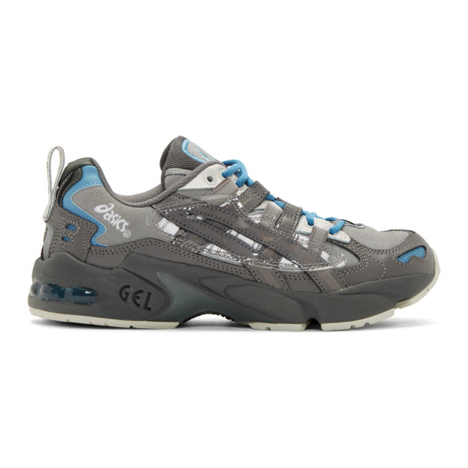 Photo: Asics Grey and Blue Chemist Creations Edition Gel-Kayano 5 OG Sneakers
