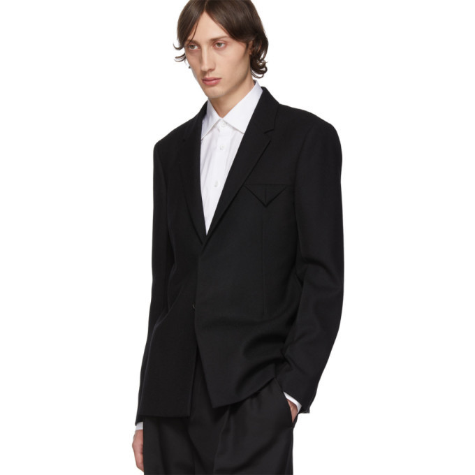 Bottega Veneta Black Double Wool Blazer