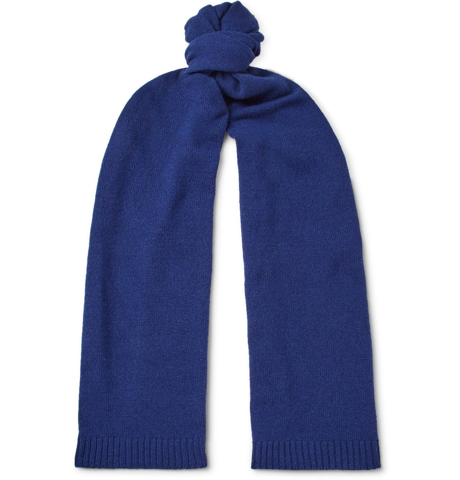 Photo: Officine Generale - Cashmere and Wool-Blend Scarf - Blue