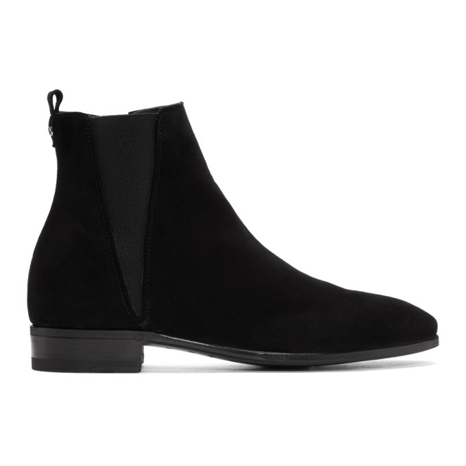 Photo: Dolce and Gabbana Black Suede Chelsea Boots