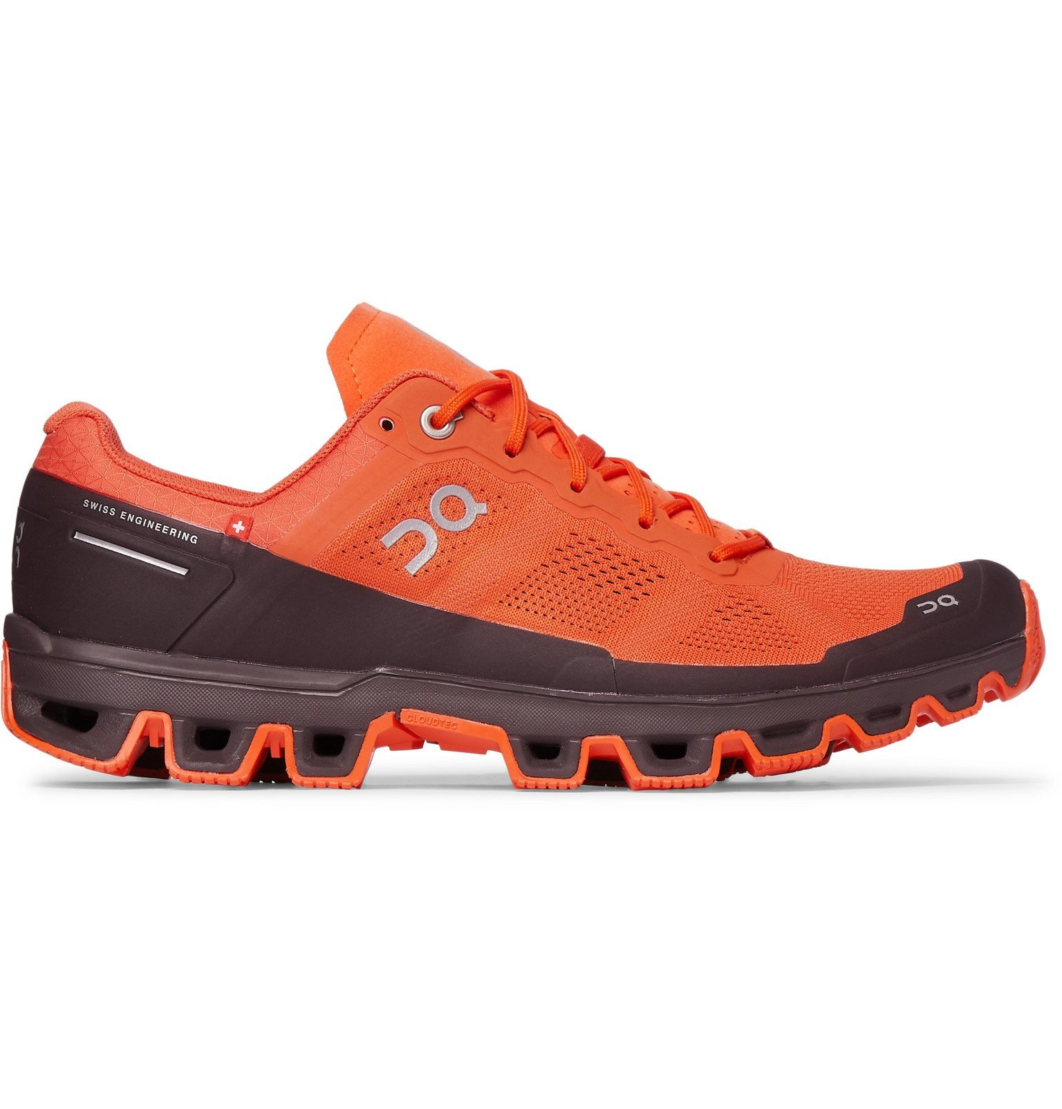 Photo: On - Cloudventure Rubber-Trimmed Mesh and Shell Trail Running Sneakers - Orange