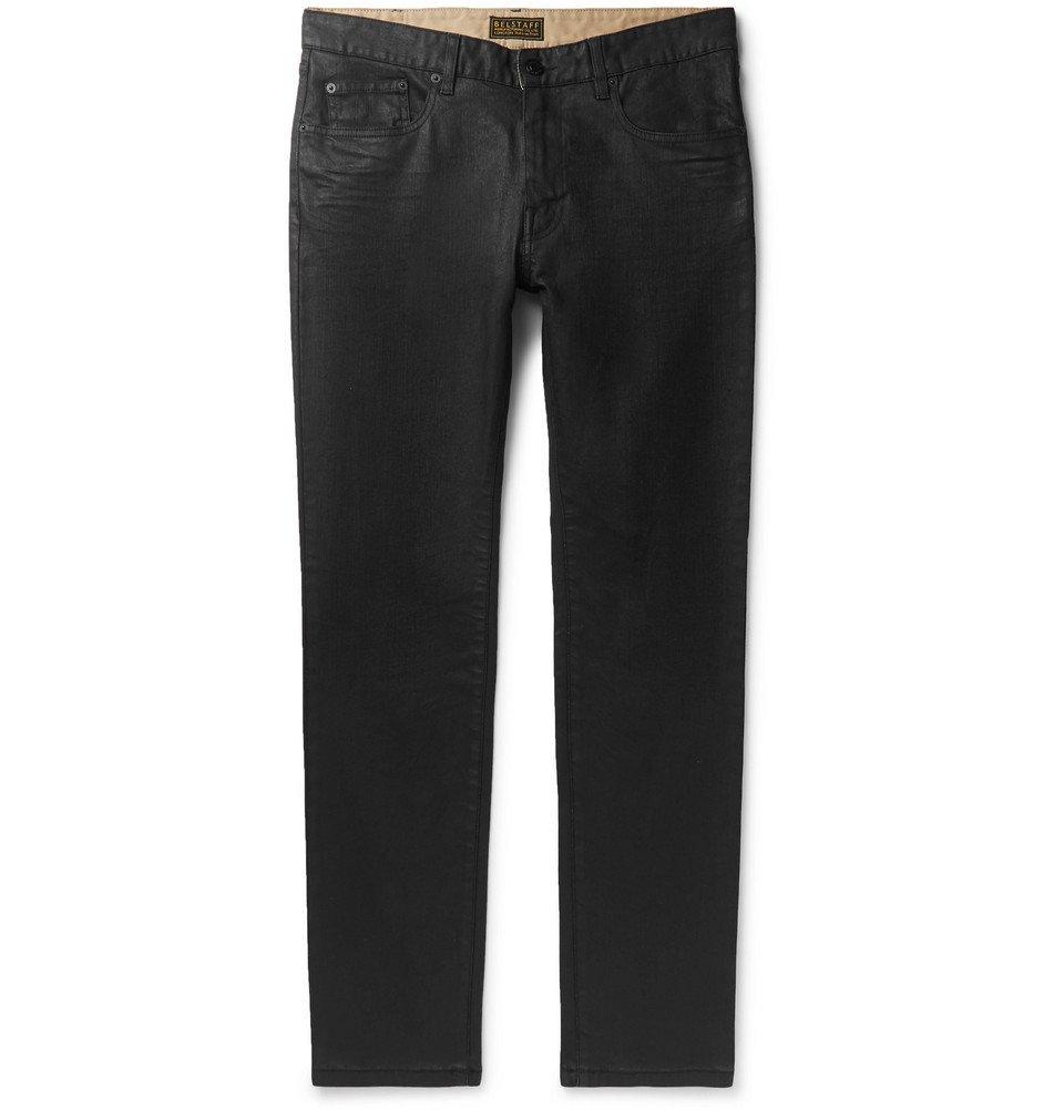 Belstaff - Fenton Slim-Fit Waxed Stretch-Denim Jeans - Black