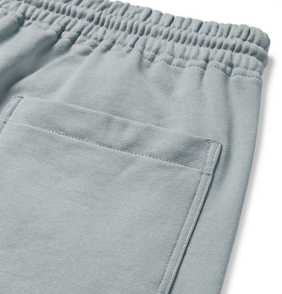Y-3 - Slim-Fit Loopback Cotton-Jersey Shorts - Men - Sky blue