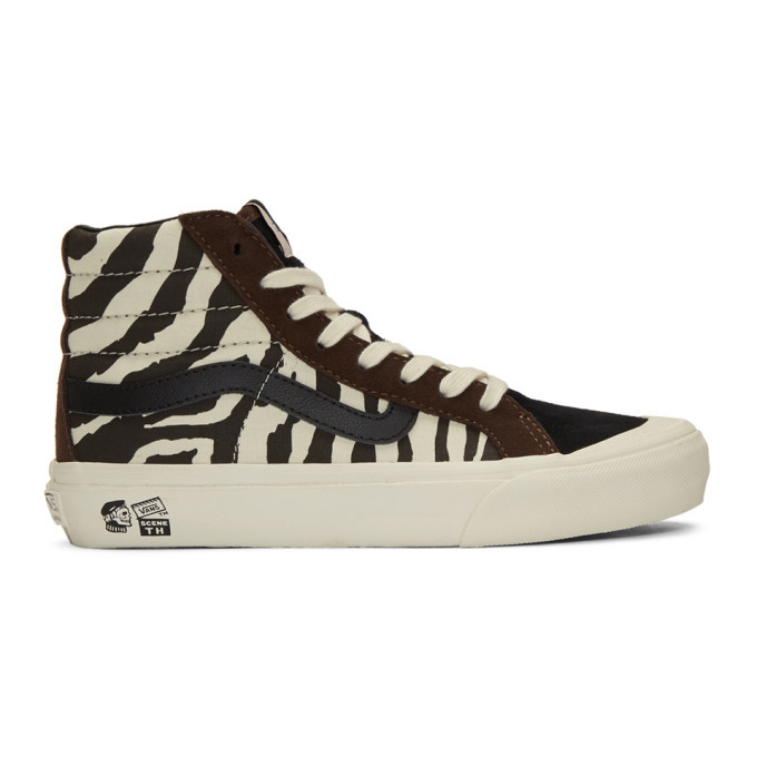 Photo: Vans Brown and Off-White Taka Hayashi Edition Style 138 Lx High-Top Sneakers