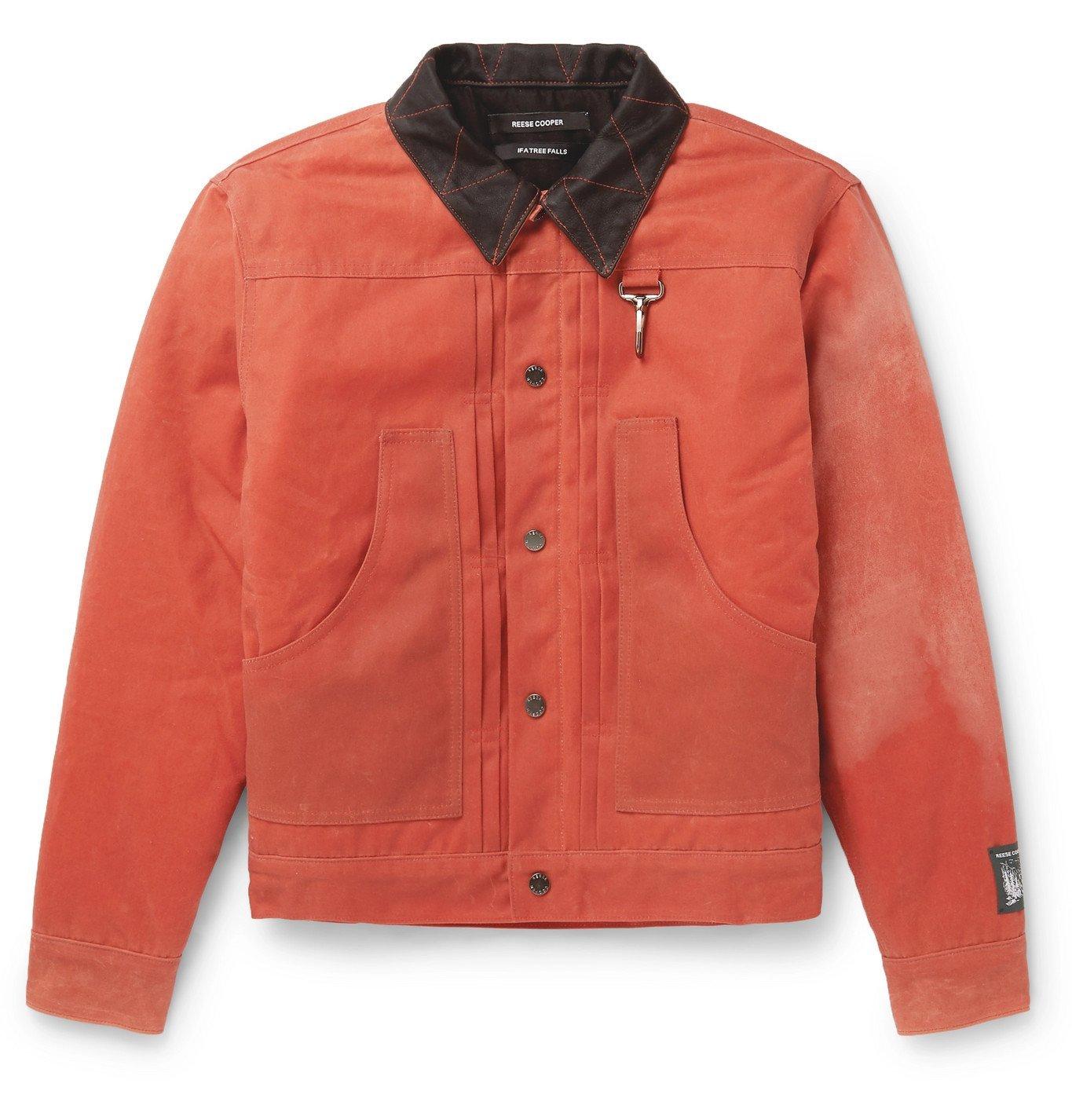 Photo: Reese Cooper® - Waxed-Cotton Trucker Jacket - Orange