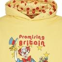 Martine Rose Reversible Clown Artwork Hooded Sweatshirt Yellow