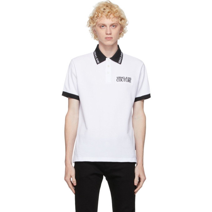 Photo: Versace Jeans Couture White and Black Logo Polo
