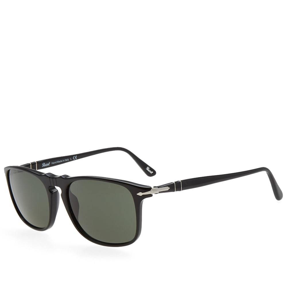 Persol 3059S Square Framed Aviator Sunglasses Black Persol