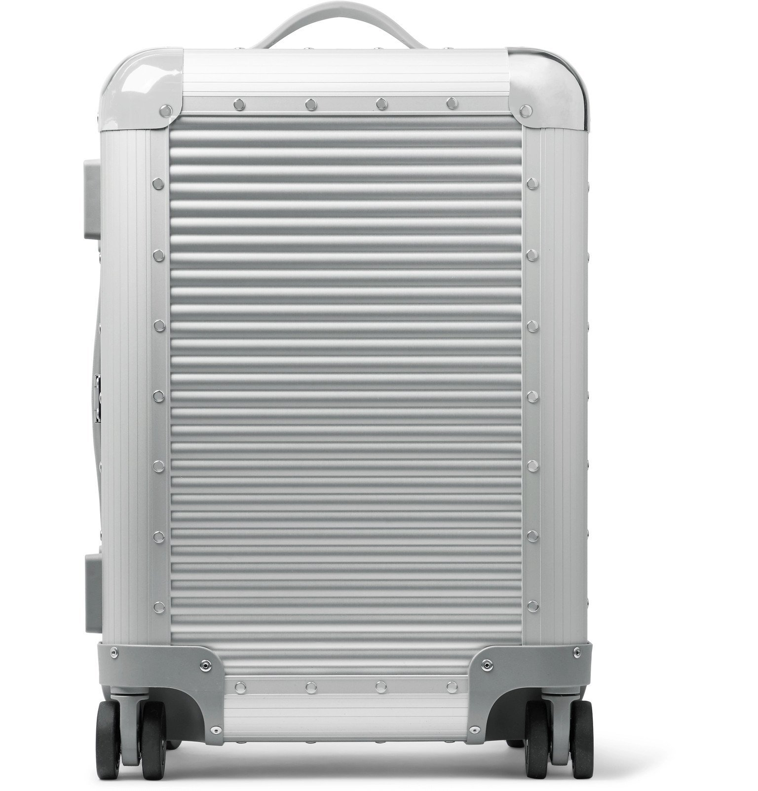 Photo: Fabbrica Pelletterie Milano - Bank S Spinner 53cm Aluminium Carry-On Suitcase - Silver