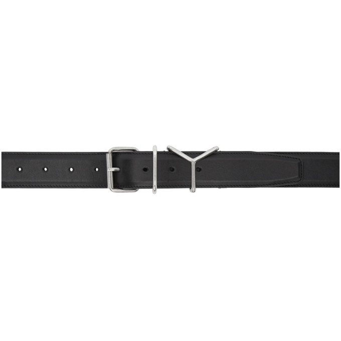 Photo: Y/Project Black Leather Y Belt