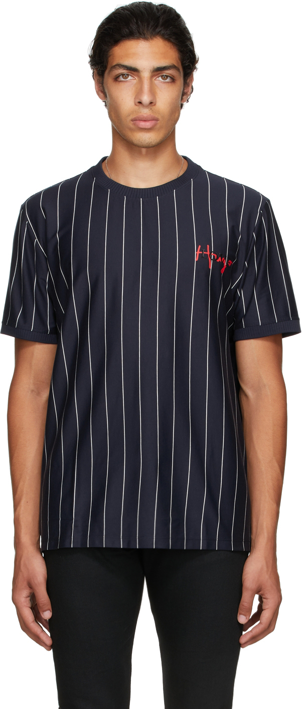 Photo: Hugo Navy Damericano Stripe T-Shirt