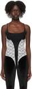 Kathryn Bowen Black & White Lace Tank Bodysuit