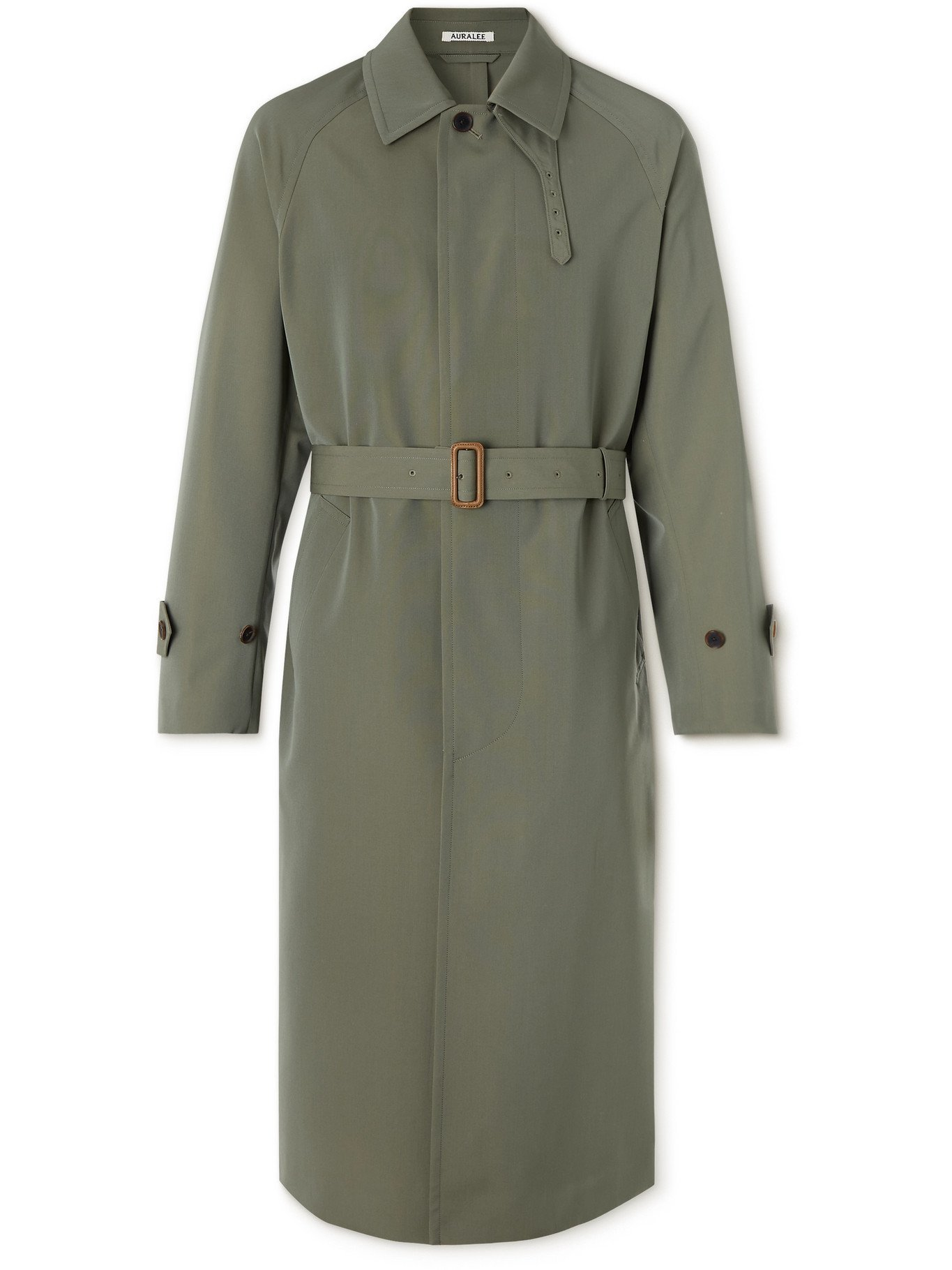 Photo: AURALEE - Wool-Canvas Trench Coat - Green - 3