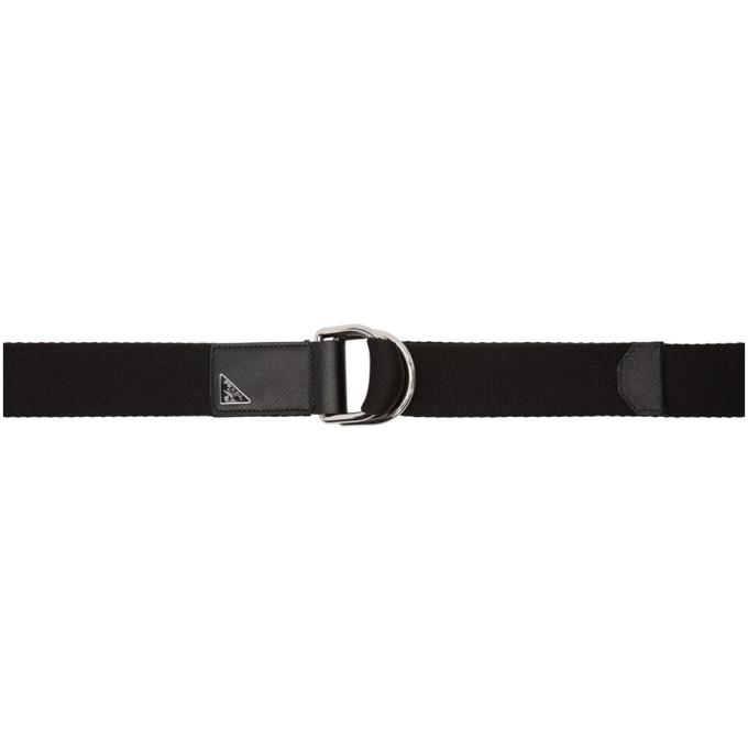 Photo: Prada Black Nylon Belt