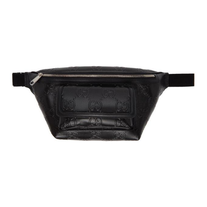 Photo: Gucci Black GG Embossed Belt Bag