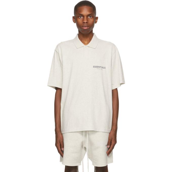 Photo: Essentials Grey Logo Short Sleeve Polo