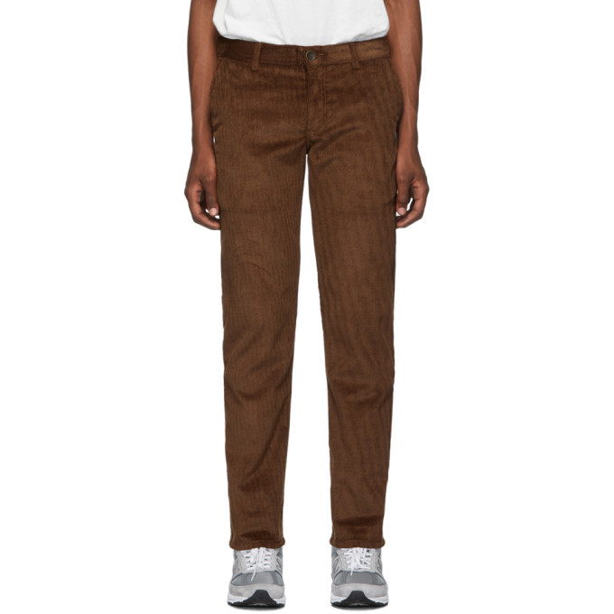 Photo: Naked and Famous Denim Brown Velvet Twill Chinos